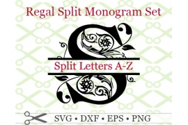 REGAL SPLIT MONOGRAM SVG