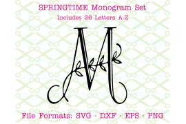 SPRINGTIME LEAVES VINE MONOGRAM SVG FONT