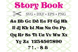 STORYBOOK FONT SVG Sleeping Beauty