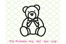 TEDDY BEAR SVG Drawing
