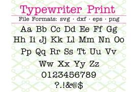 TYPEWRITER PRINT SVG FONT