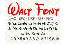 WALT SVG FONT