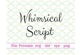 WHIMSICAL SCRIPT SVG FONT