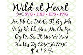 WILD AT HEART SCRIPT SVG FONT