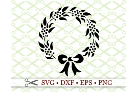 CHRISTMAS WREATH STENCIL SVG FILE