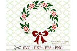 CHRISTMAS WREATH STENCILSVG FILE