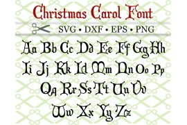 CHRISTMAS CAROL SVG FONT