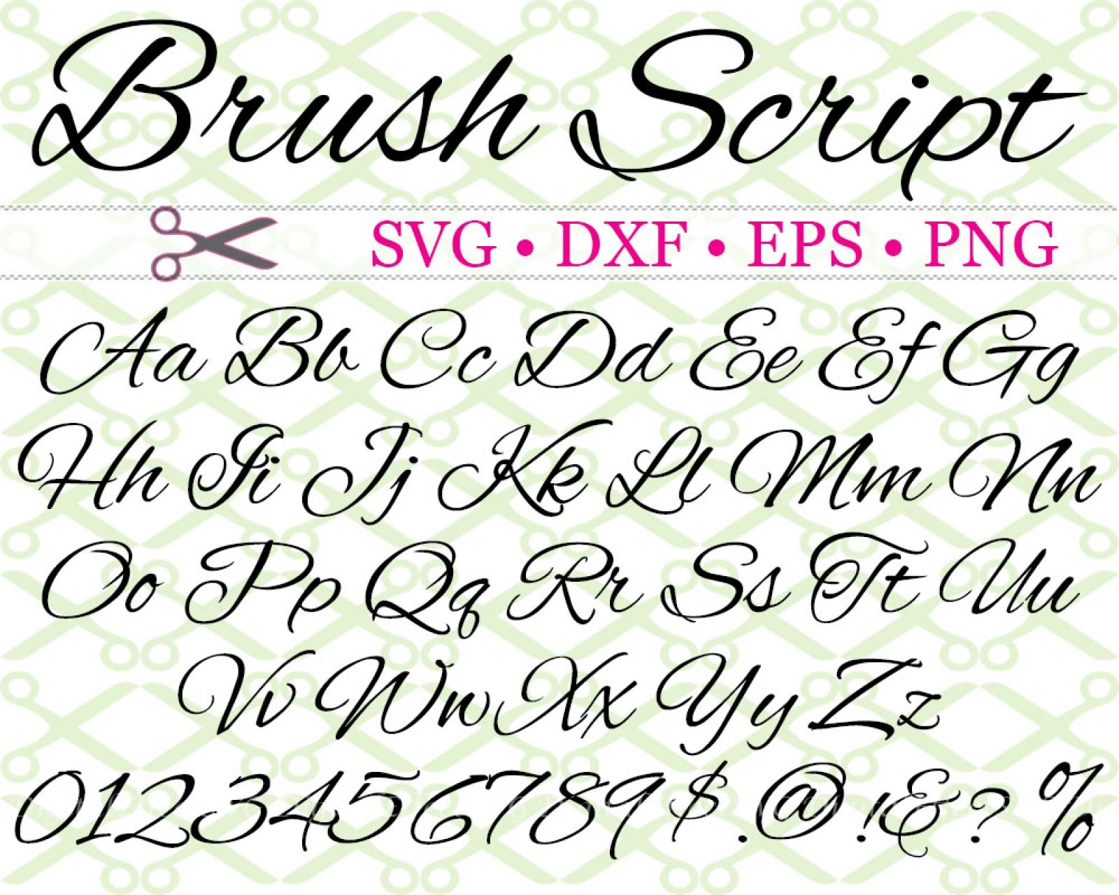 Download BRISH SCRIPT SVG FONT-Cricut & Silhouette Files SVG DXF ...
