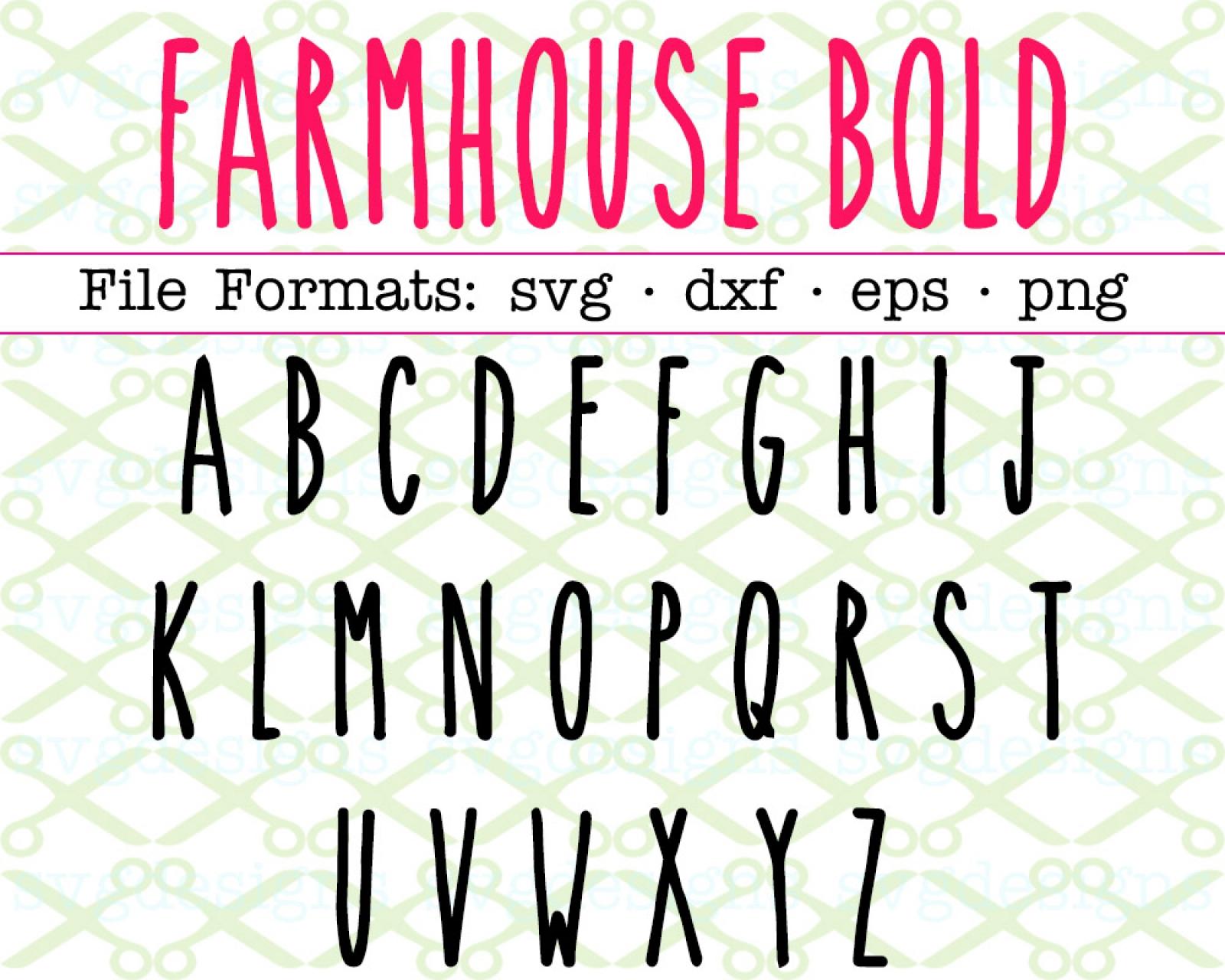 FARMHOUSE BOLD SVG FONT, RAE DUNN INSPIRED FONT