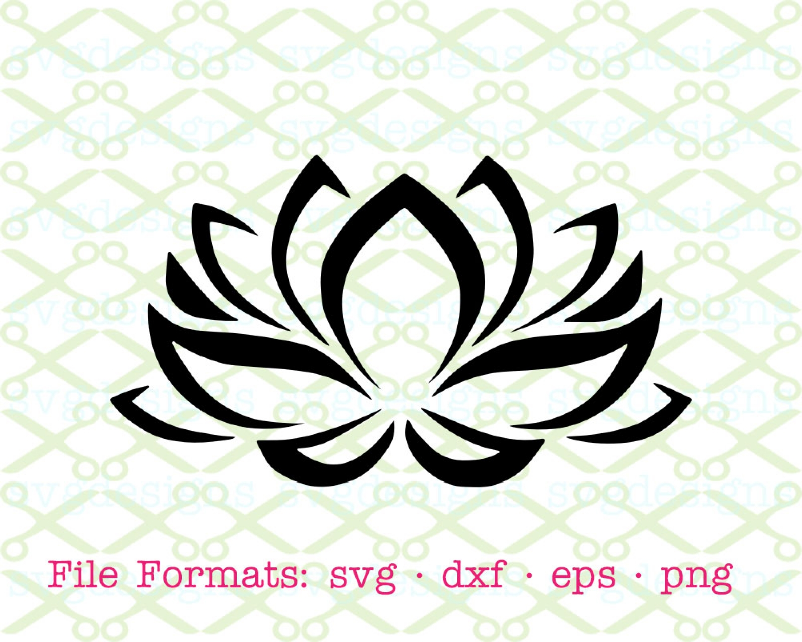 Lotus flower svg file cricut silhouette files svg dxf eps png lotus flower svg file izmirmasajfo