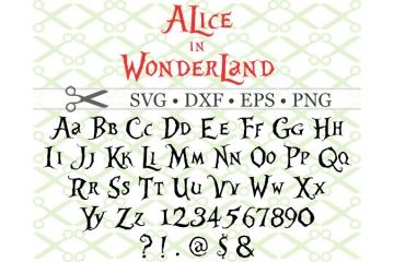 ALICE IN WONDERLAND SVG FONT