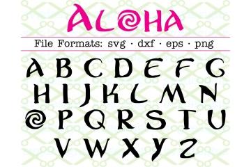 ALOHA FONT SVG