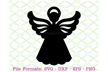 ANGEL STENCIL SVG FILE, ANGEL SILHOUETTE