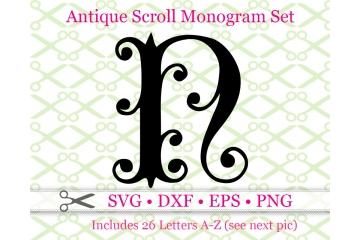 ANTIQUE SCROLL MONOGRAM SVG FONT