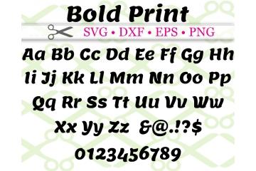 BOLD PRINT SVG FONT