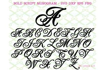 BOLD SCRIPT SVG FONT
