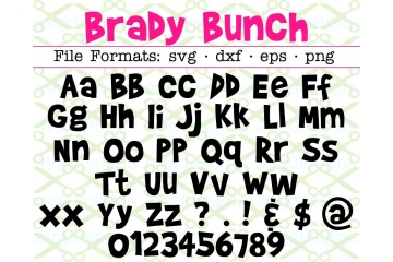 BRADY BUNCH FONT SVG FILES