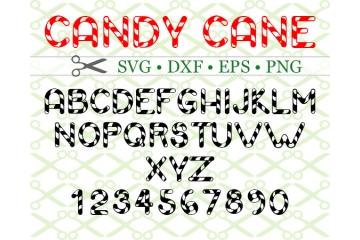 CANDY CANE SVG FONT