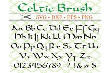 CELTIC BRUSH SCRIPT SVG FONT