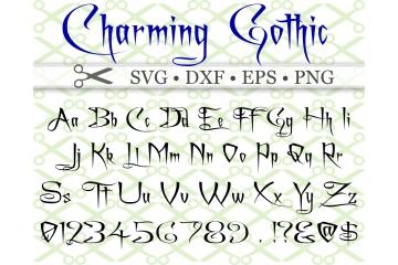 CHARMING SVG FONT, Gothic Font