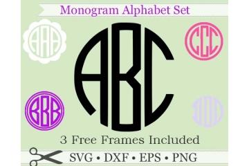 THREE LETTER ROUND MONOGRAM & FRAMES