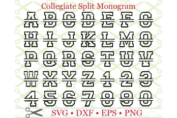 COLLEGIATE SPLIT MONOGRAM SET