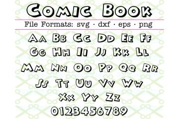 COMIC BOOK FONT SVG
