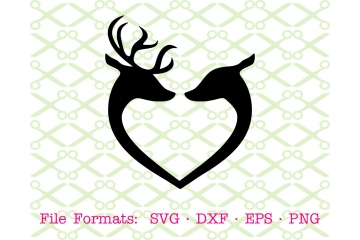 DEER BUCK & DOE SVG FILE