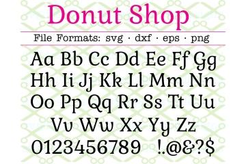 DONUT SHOP FONT SVG