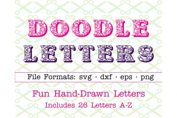 DOODLE PATTERN HAND DRAWN LETTERS SVG FONT