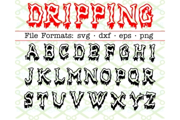 DRIPPING FONT, Halloween Font SVG File
