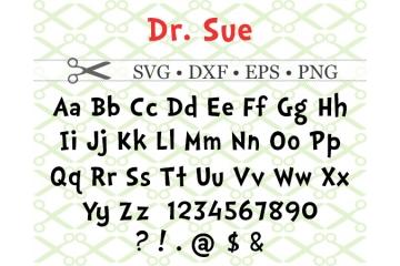 DR SUE SVG FONT