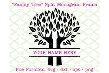 FAMILY TREE SVG SPLIT FRAME