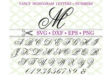 FANCY WEDDING MONOGRAM SVG FONT