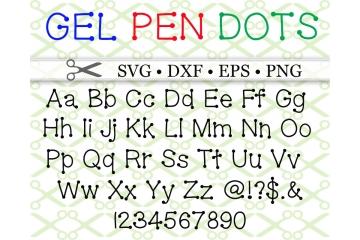 GEL PEN DOTS FONT SVG FILES