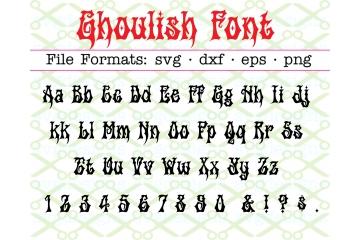 GHOULISH HALLOWEEN SVG FONT