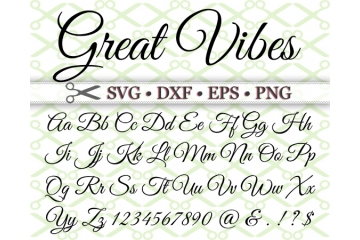 GREAT VIBES SVG FONT