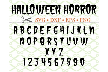 HALLOWEEN HORROR SVG FONT