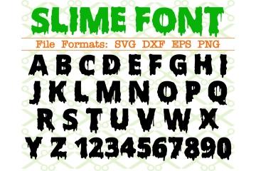 SLIME FONT, Halloween Font SVG File