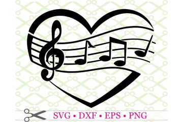 MUSICAL HEART SVG