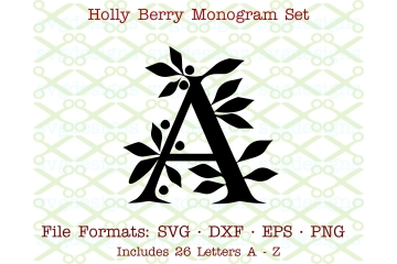 HOLLY MONOGRAM SVG FILES
