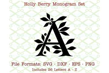 HOLLY MONOGRAM SVG FILES