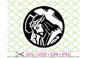 JESUS SVG, Jesus Carrying Cross SVG