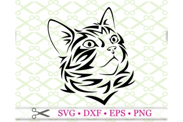 STYLIZED KITTEN SVG #2