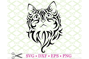 STYLIZED KITTEN SVG