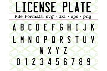 LICENSE PLATE SVG FONT