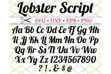 LOBSTER SCRIPT FONT SVG FILES