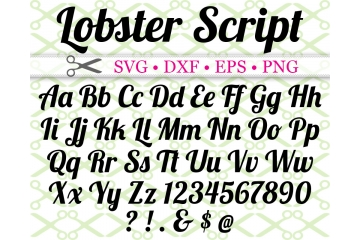 LOBSTER SCRIPT FONT SVG FILES