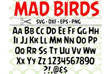 MAD BIRDS SVG FONT