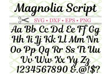 MAGNOLIA SCRIPT SVG FONT